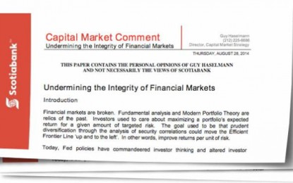 Undermining the Integrity of Financial Markets